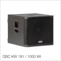 Активный сабвуфер QSC KW 181 / 1000 Wt